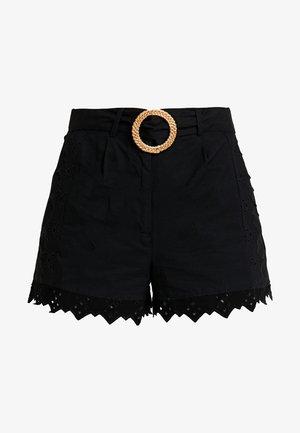 BRODERIE TIE - Shorts - black