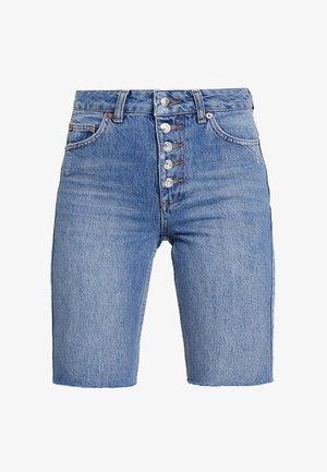 BUTTON CYCLE - Szorty jeansowe - blue denim