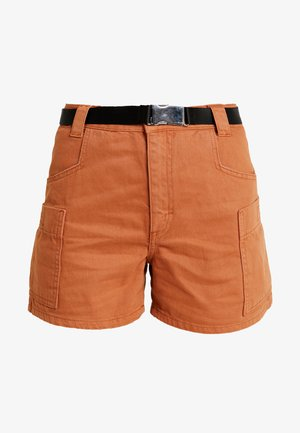 UTILITY BELTED - Jeans Short / cowboy shorts - rust