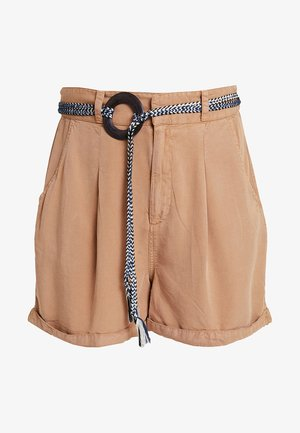 BELTED - Shorts - tan