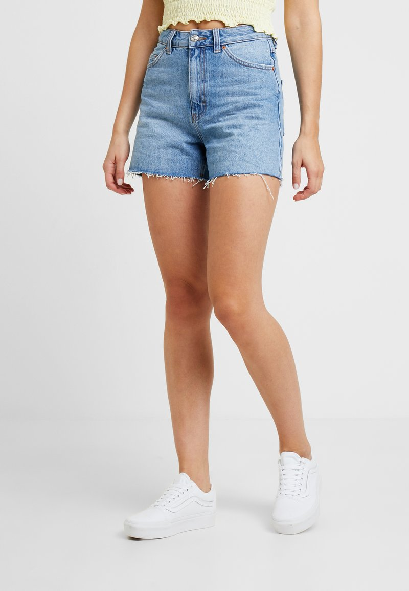 Topshop - A LINE - Denim shorts - mid blue