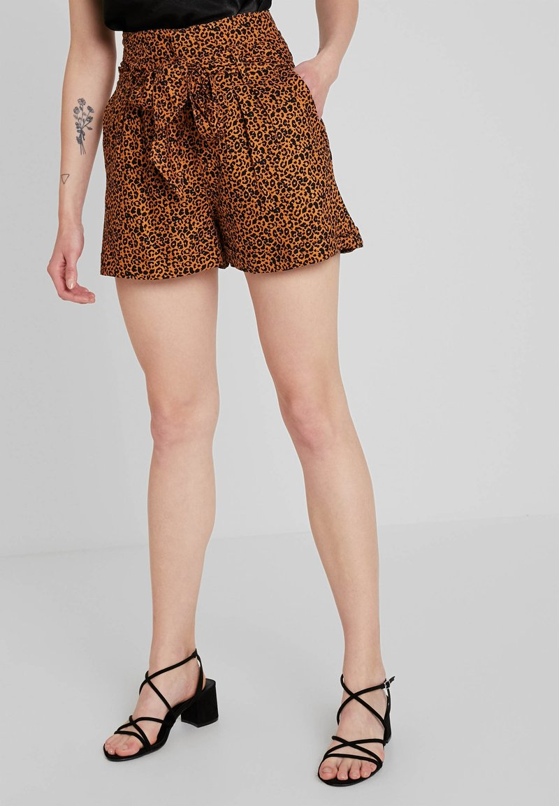 Topshop - ANIMAL TWILL - Shorts - brown