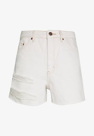 MOM SLASH  - Jeansshort - white