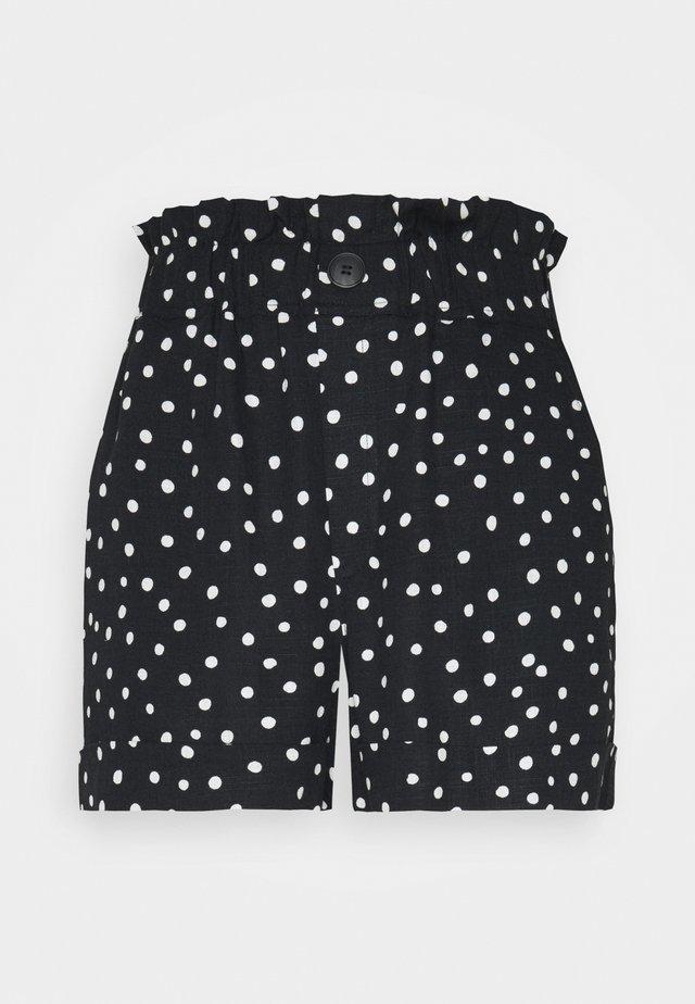 TURN UP - Shorts - white/black