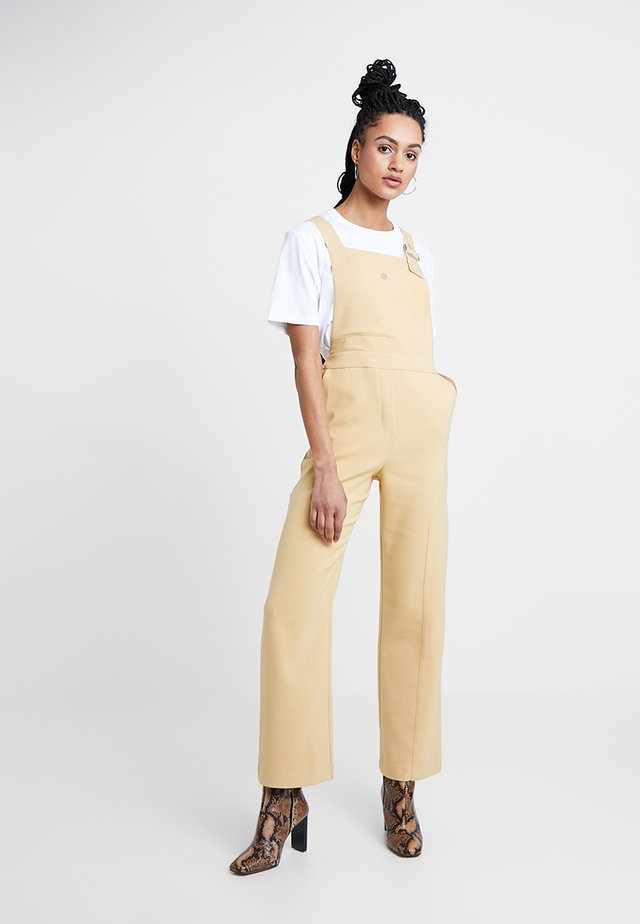BONDED - Jumpsuit - putty