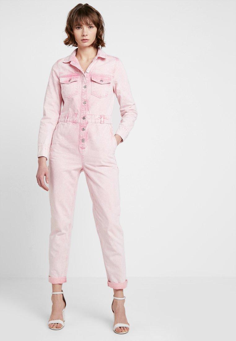 Topshop - ACID BOILER - Jumpsuit - pink