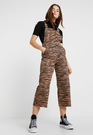 TIGER DUNGAREE - Lacláče - brown