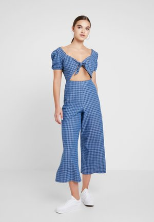 GINGHAM  - Jumpsuit - blue denim