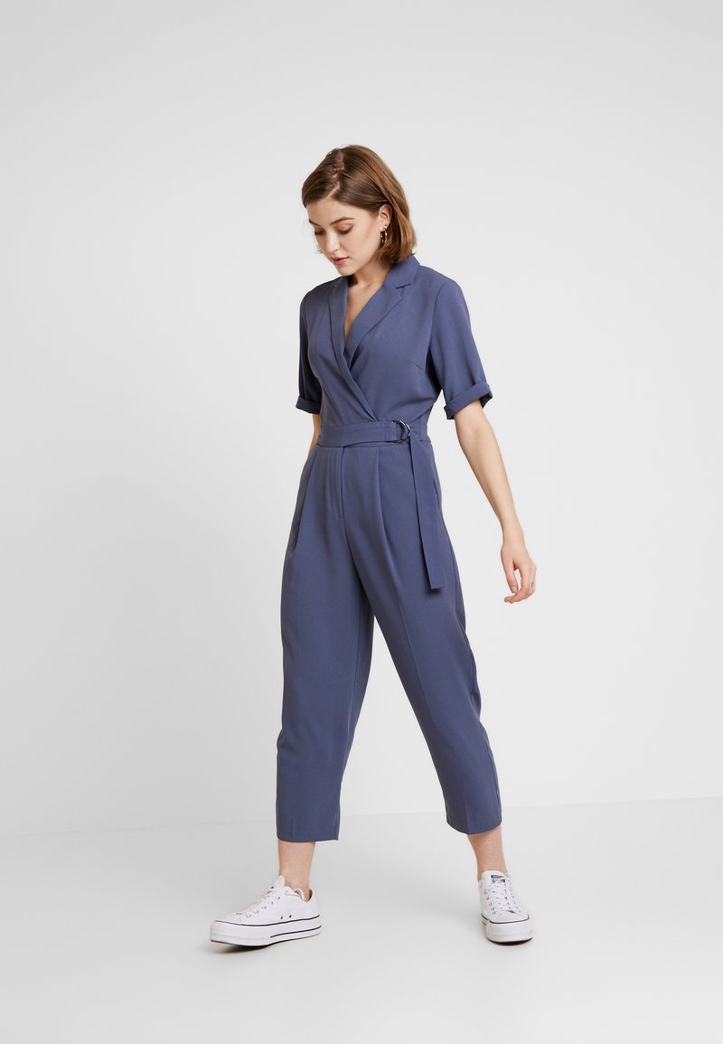 Topshop - BUCKLE - Overal - petrol blue