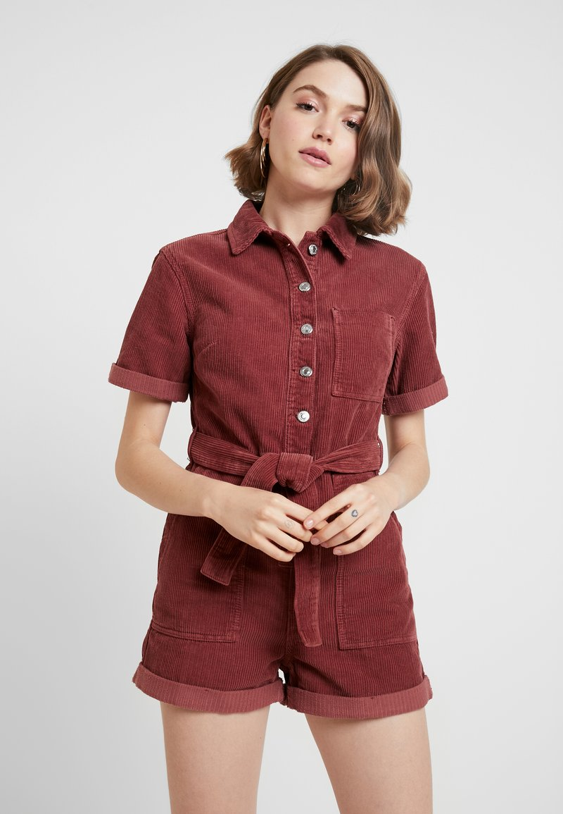 Topshop - BUTN ROMPER - Overal - berry