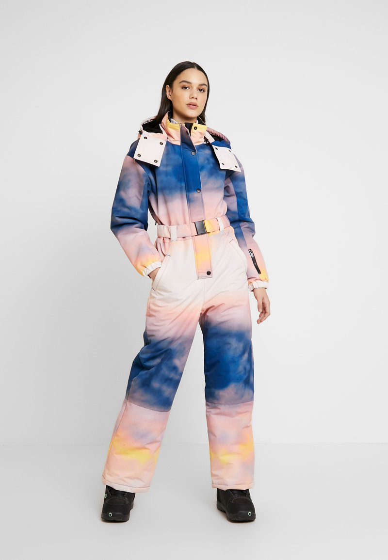 Topshop - SNO PRINTED AIO - Tuta jumpsuit - pink/yellow