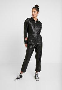 Topshop - BOILER - Jumpsuit - black - 0