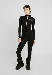 Topshop - THERMAL ALL IN ONE - Jumpsuit - black - 1