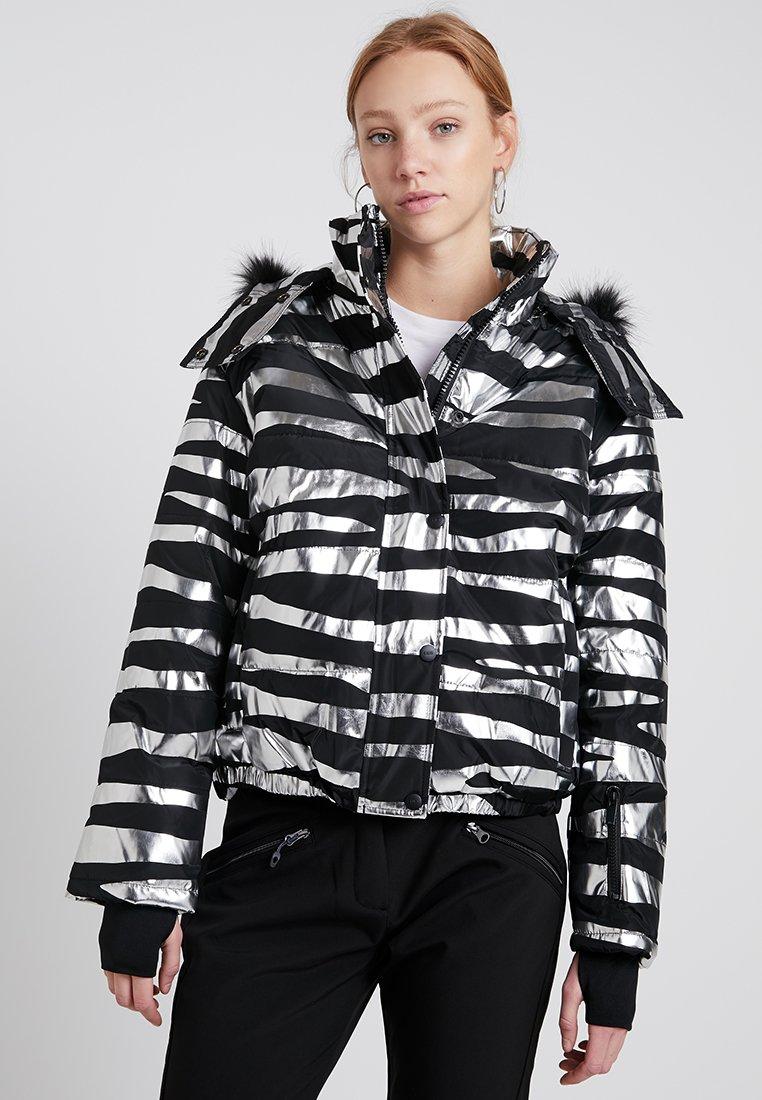 Topshop - SNO ZEBRA PRINT LOPEZ - Snowboardová bunda - black