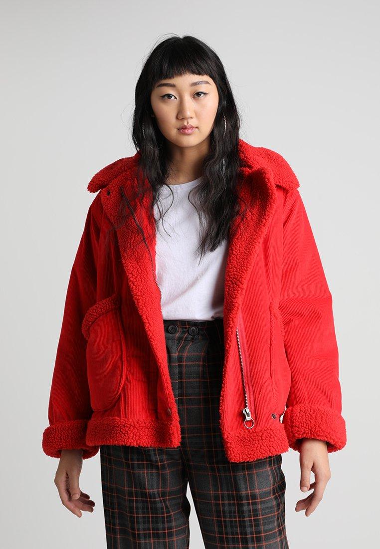 Topshop - BORG - Light jacket - red