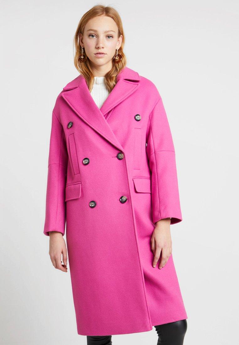 Topshop - KIM COOL - Wollmantel/klassischer Mantel - bright pink