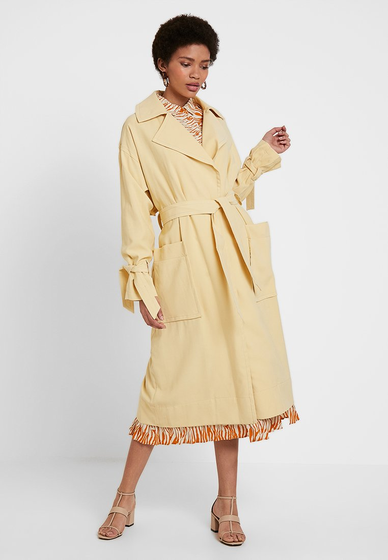 Topshop - THUMPER DUSTER - Trench - buttermilk
