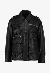 Topshop - JOAN JACKET - Leather jacket - black - 3