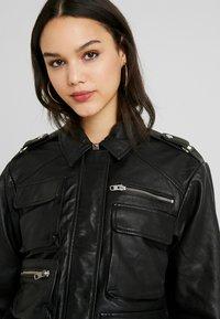 Topshop - JOAN JACKET - Leather jacket - black - 4