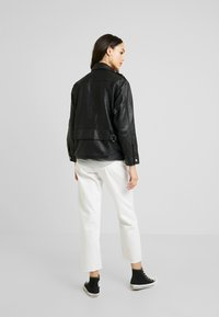 Topshop - JOAN JACKET - Leather jacket - black - 2