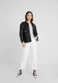 Topshop - JOAN JACKET - Leather jacket - black - 1