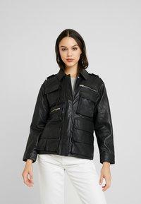 Topshop - JOAN JACKET - Leather jacket - black - 0