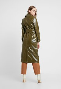 Topshop - CONTRAST STITCH - Trench - olive - 2