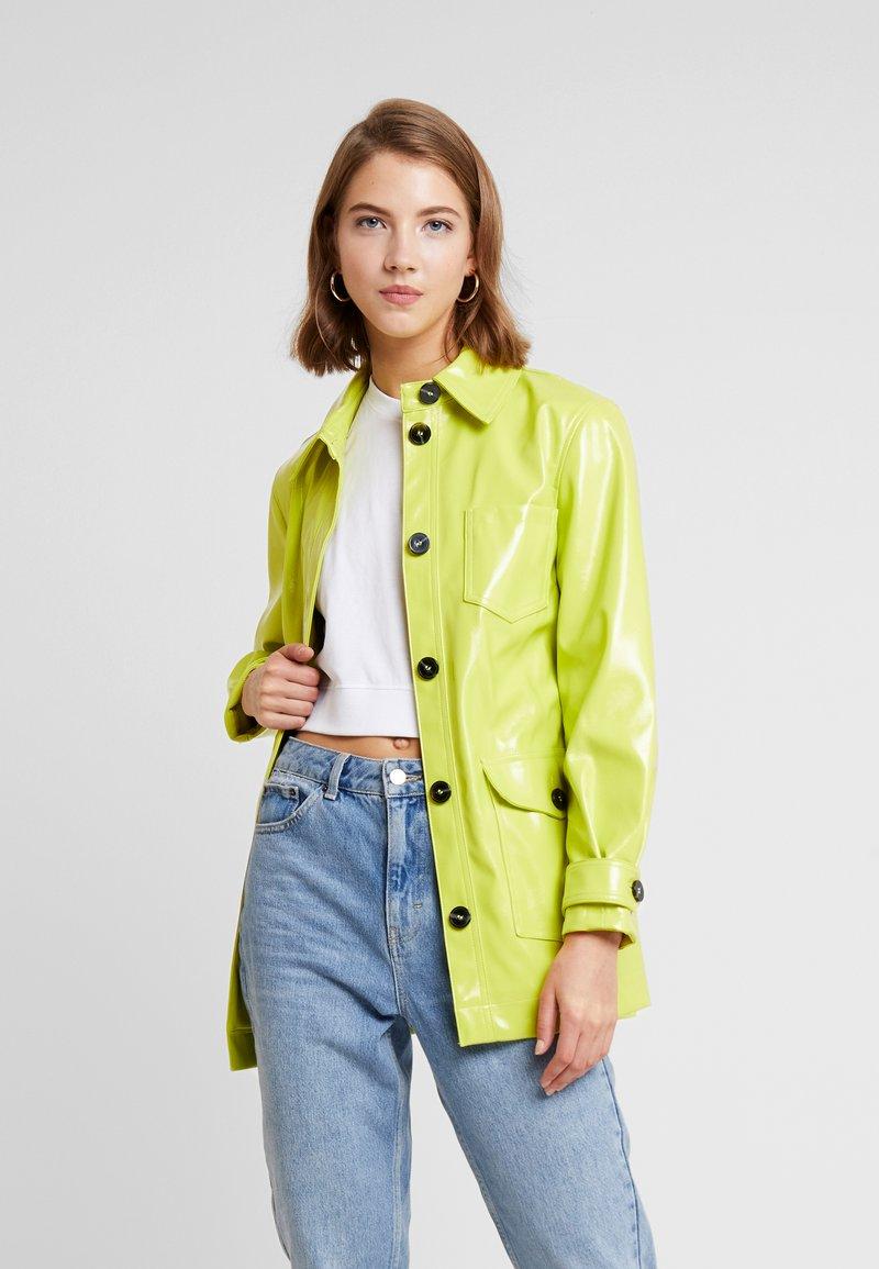 Topshop - CASEY BELTED - Short coat - lime