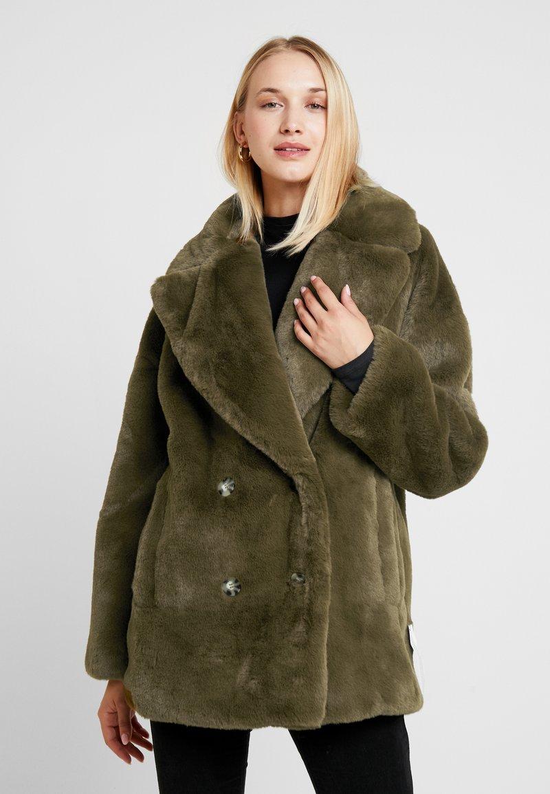 Topshop - ALLY - Zimní kabát - khaki