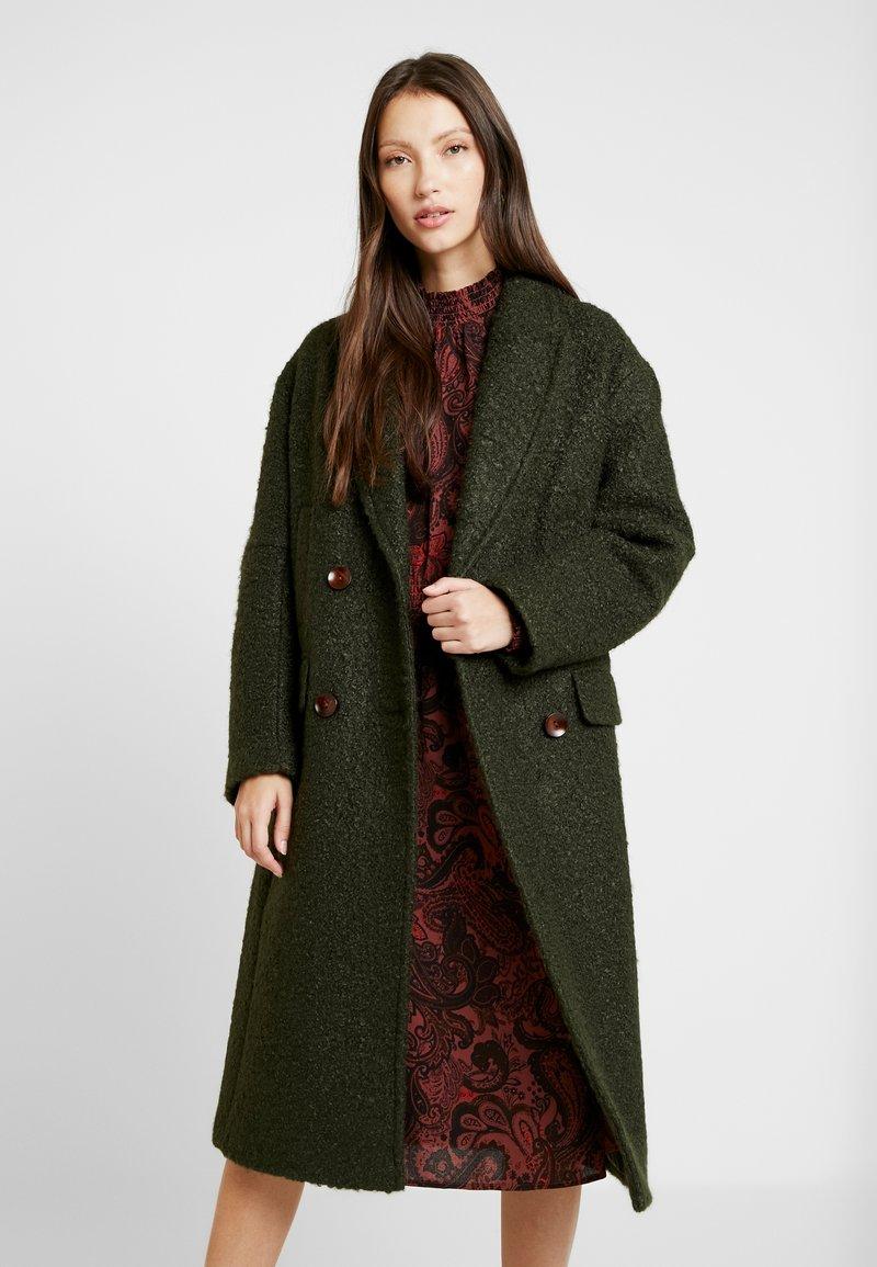 Topshop - KIM BOUCLE - Classic coat - khaki