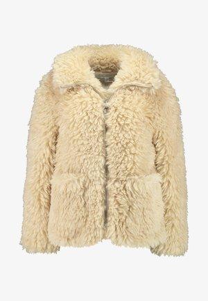 FLUFFY JONAS ZIP THROUGH - Winter jacket - cream