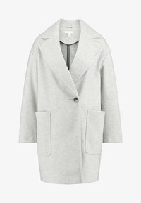 Topshop - CARLY CHUCK ON - Classic coat - pale grey - 4