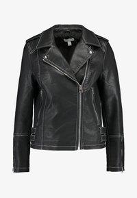 Topshop - Imitatieleren jas - black - 4