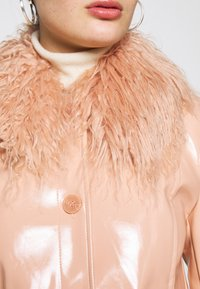 Topshop - LISA FUR COLLAR - Faux leather jacket - peach - 6