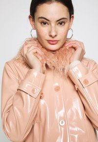Topshop - LISA FUR COLLAR - Faux leather jacket - peach - 3