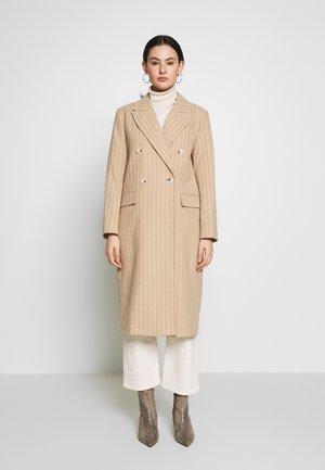 FREDDIE CHALK STRIPE - Zimní kabát - camel