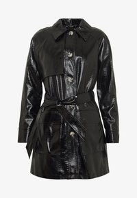 Topshop - CHARLIE CROC SHACKET - Short coat - black - 4
