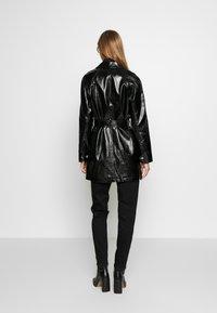 Topshop - CHARLIE CROC SHACKET - Short coat - black - 2