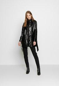 Topshop - CHARLIE CROC SHACKET - Short coat - black - 1