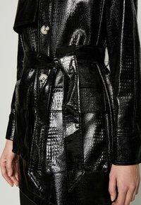 Topshop - CHARLIE CROC SHACKET - Short coat - black - 5