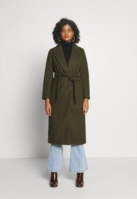 Topshop - BUNTY BELTED  - Classic coat - khaki - 0