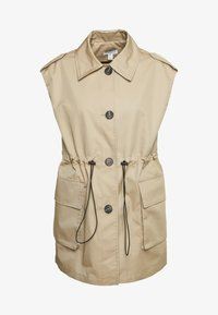 Topshop - SLEEVELESS CROP TRENCH - Smanicato - sand - 3