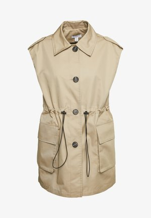 SLEEVELESS CROP TRENCH - Vesta - sand