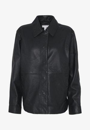 JACKET - Leather jacket - black