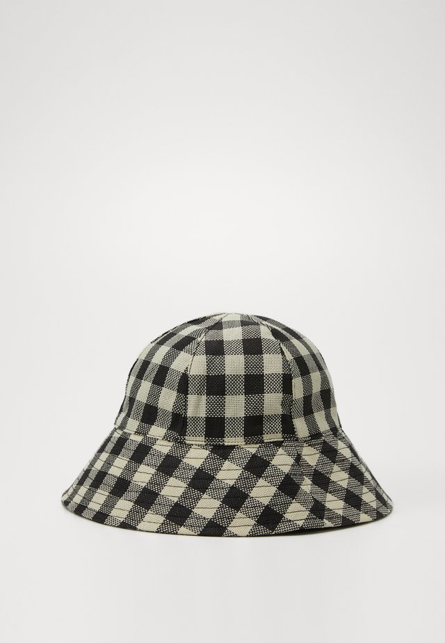 GINGHAM BUCKET - Hut - monochrome
