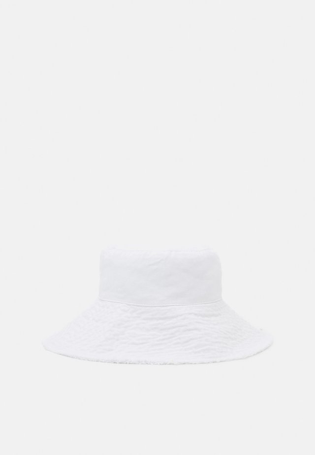 WIDE FRAY SUN BUCKET - Hoed - white