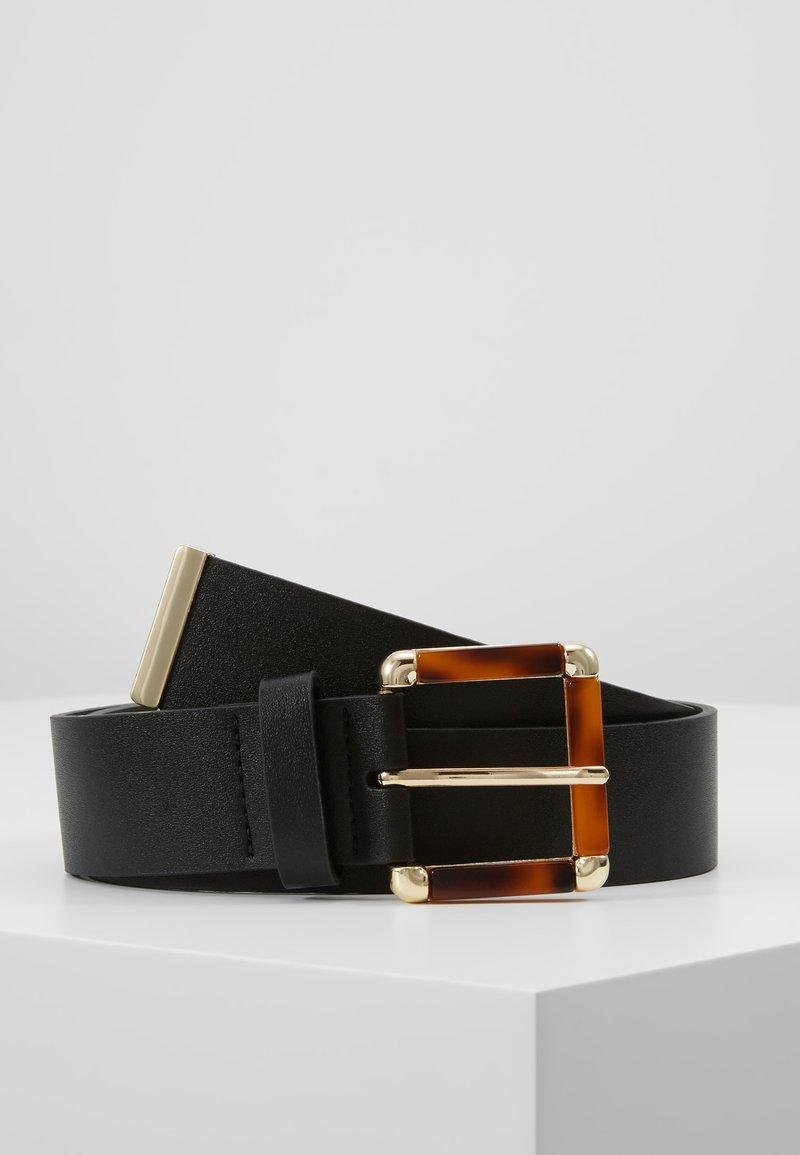 Topshop - TORT INLAY BUCKLE - Belt - black