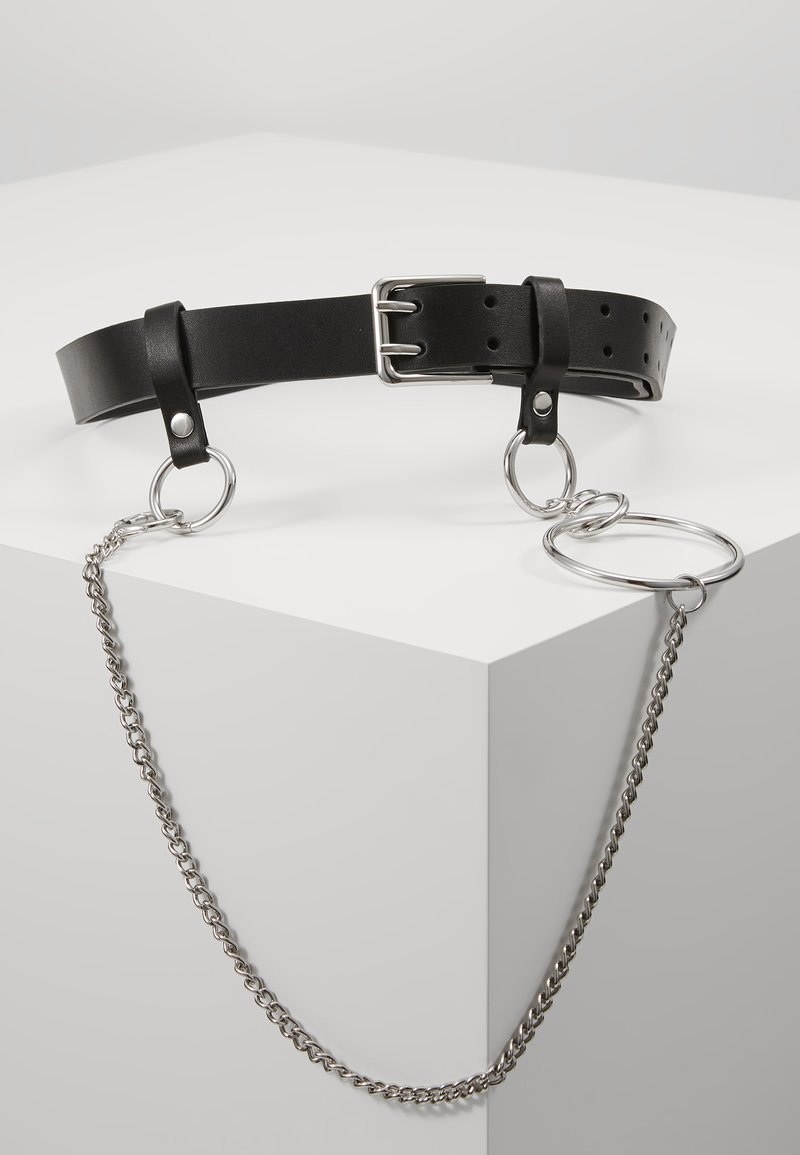 Topshop - PRONG CHAIN BELT - Gürtel - black
