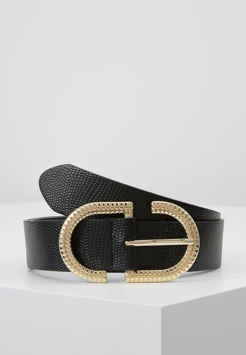 Topshop - NEW TOOLED LOGO - Cinturón - black