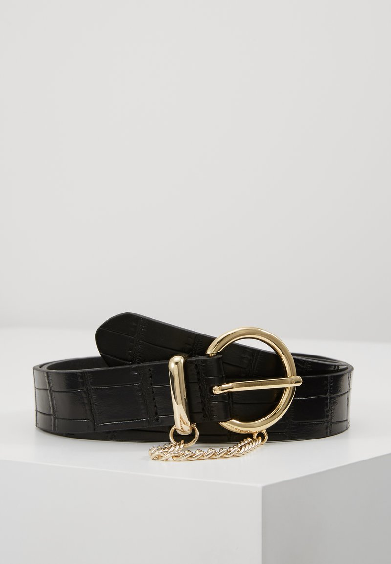 Topshop - CROC CHAIN BELT - Gürtel - black
